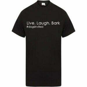 dogs-invited-black-tshirt